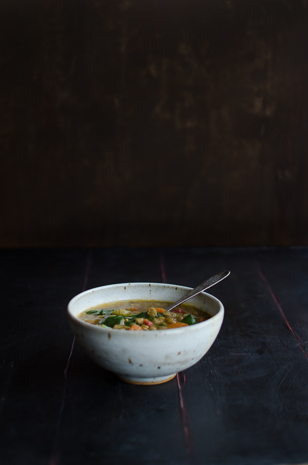 This Lentil Soup is amazing! It's made with sun dried tomatoes, a bit of white wine and lots of veggies.   @tasteLUVnourish