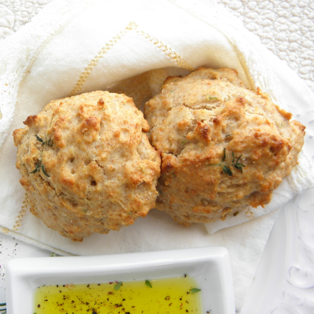 Olive Oil and Herb Drop Biscuits | @tasteLUVnourish
