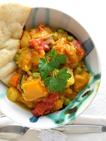 Roasted Vegetable Curry - a delicious mix of flavors. | @tasteLUVnourish on TasteLoveAndNourish.com