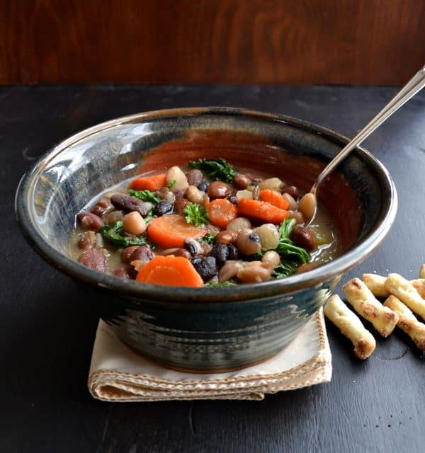 16 Bean and Kale Soup - healthy comfort food! | @tasteLUVnourish