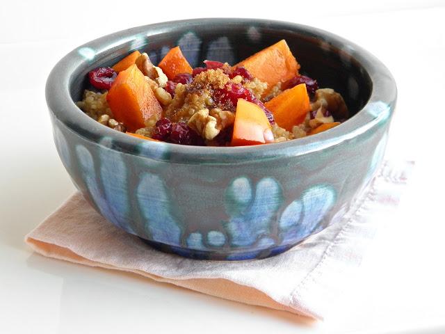 Persimmon Cranberry Quinoa Breakfast | @tasteLUVnourish
