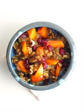 Persimmon Cranberry Quinoa Breakfast | @tasteLUVnourish