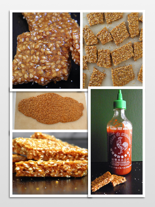Sesame Sriracha Brittle - spicy, sweet and crunchy! I love this combination! | @tasteLUVnourish