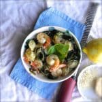 Shrimp and Spinach Orecchiette