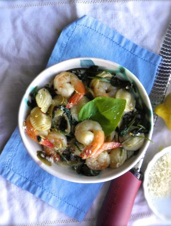 Shrimp and Spinach Orecchiette - simple, easy and fast. This is our favorite dinner! | @tasteLUVnourish