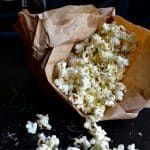 Rosemary Parmesan Popcorn - you'll love this easy fat-free method of popping popcorn! | @tasteLUVnourish