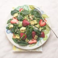 Baby Kale Salad with Strawberry and Avocado