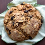 Cherry Almond Soda Bread (Vegan) from @tasteLUVnourish on TasteLoveAndNourish.com