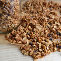This Peanut Butter Chocolate Chip Granola is so delicious! Have it with some milk in a bowl, over yogurt, ice-cream or just by the handful! It's addicting! From @tasteLUVnourish on tasteloveandnourish.com
