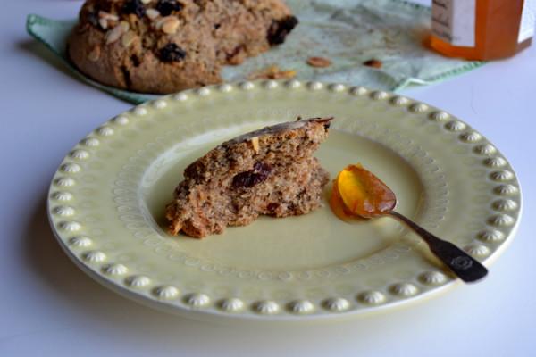 Cherry Almond Soda Bread (Vegan) from @tasteLUVnourish on TasteLoveAndNourish.com