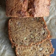 Banana Bread - this family recipe has been lightened up over the years into an amazing bread with a crunchy, sweet top! | @tasteLUVnourish