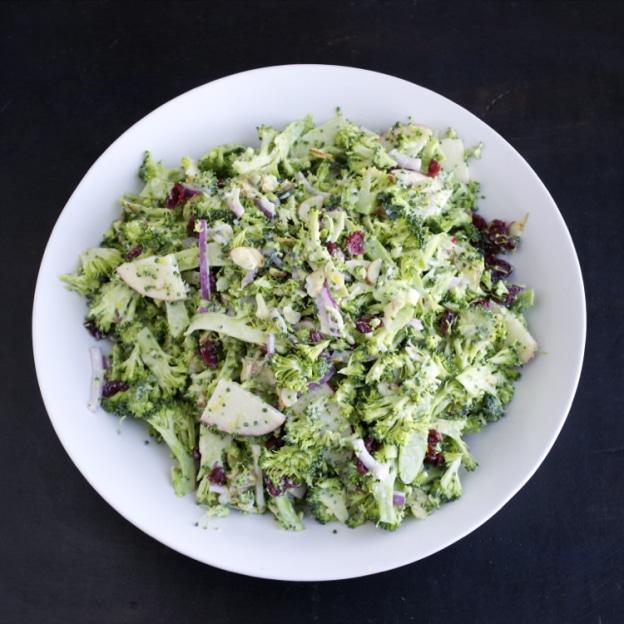 Shaved Broccoli Salad - taste love and nourish