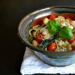 Spaghetti with Escarole White Bean & Tomato ~ Food Bloggers Against Hunger