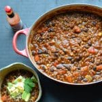 Black Bean and Lentil Chili | @tasteLUVnourish | #chili #blackbean #lentil #vegetarian #vegan