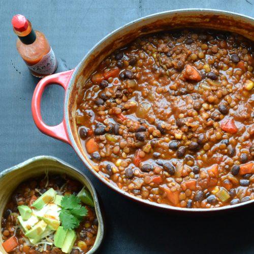 Black Bean And Lentil Chili Taste Love And Nourish