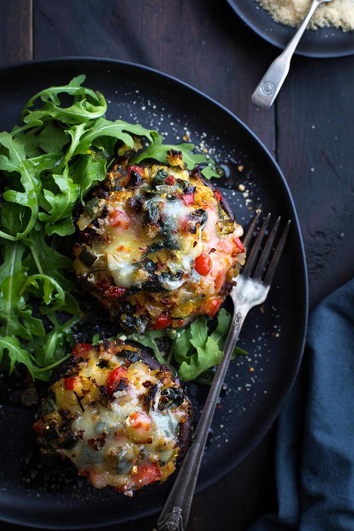 Vegetable Stuffed Portabella Mushrooms Taste Love And Nourish