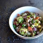 Beluga Lentil Salad with Hearts of Palm and Avocado