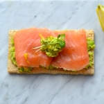 Lunchtime:  Mashed Fava Bean and Smoked Salmon Flatbread