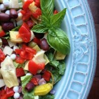 Chopped Antipasto Salad - Everything you love in an antipasto…chopped with crisp romaine and tossed with a zesty Italian dressing! | From @tasteLUVnourish on www.tasteloveandnourish.com