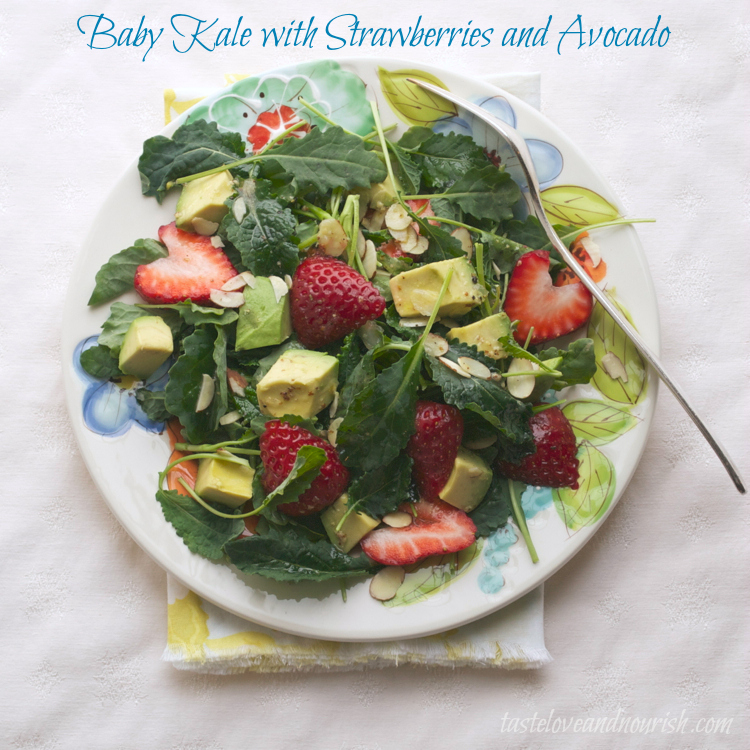 Baby Kale with Strawberry and Avocado