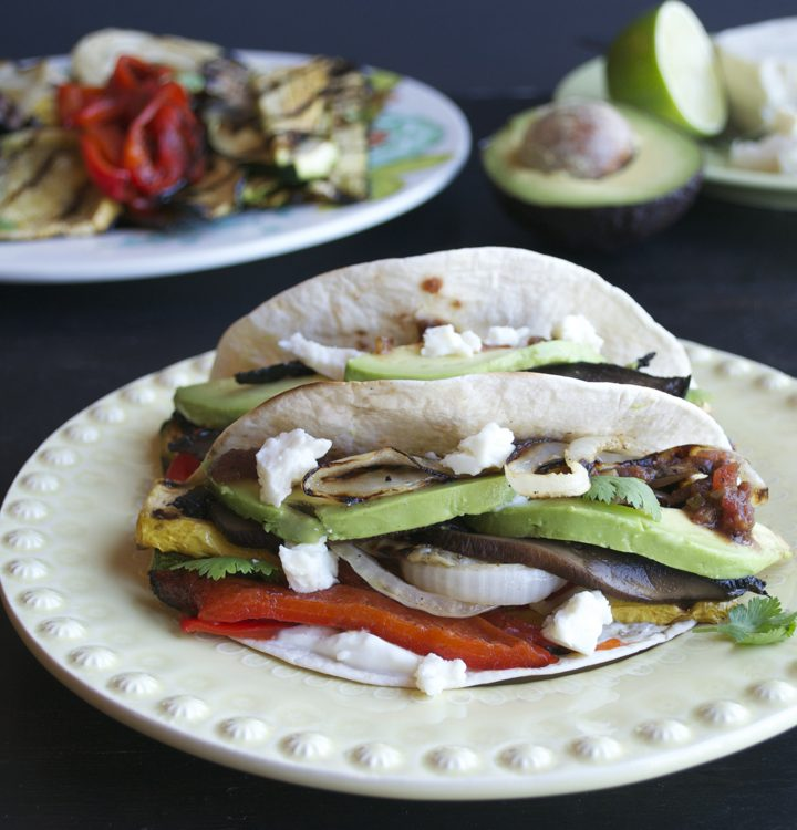 Chipotle Grilled Vegetable Tacos - a perfect vegetarian taco with loads of flavor.   From @tasteLUVnourish on www.tasteloveandnourish.com