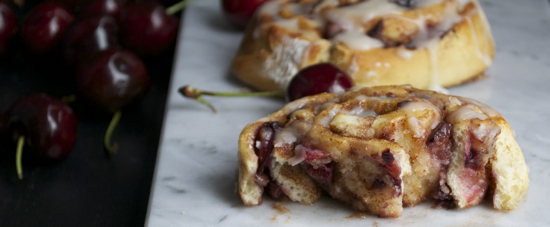 Cherry Almond Cinnamon Rolls
