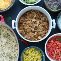 Beer Braised Carnitas Burrito Bowl