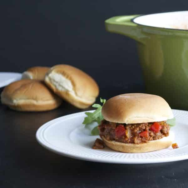 Sloppy Joes - Make these quickly on the stovetop or slowly in a slow cooker. The whole family will love these! | @tasteLUVnourish on tasteloveandnourish.com