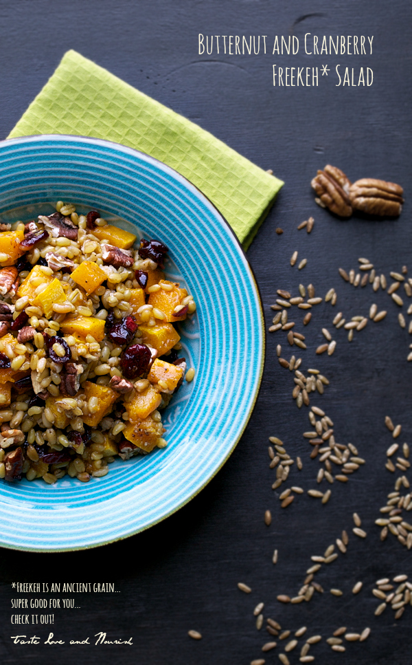 Butternut and Cranberry Freekeh Salad