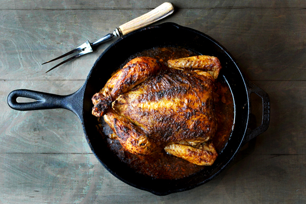 Rotisserie Inspired Roasted Chicken - a reader favorite with a no-fail roasted method.   @tasteLUVnourish