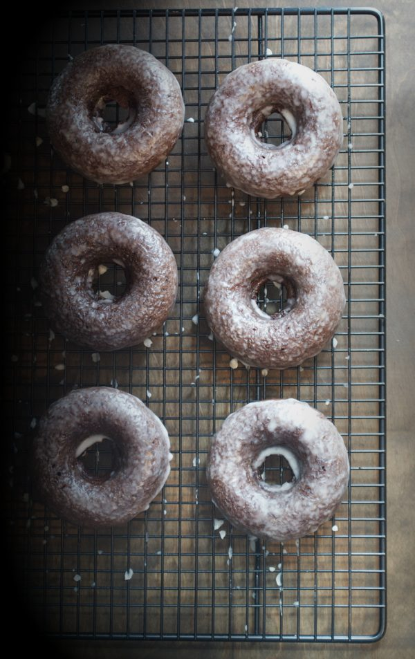 Baked Chocolate Glazed Donuts - These donuts are so chocolatey, moist and delicious! You'd never know they were baked! | @tasteLUVnourish