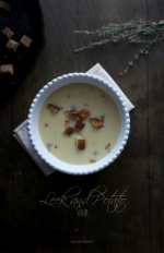Leek and Potato Soup | @tasteLUVnourish | #soup #leek #potato #light