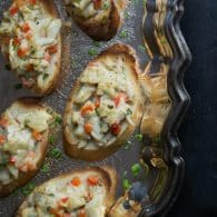 Crab Crostini - this simple elegant appetizer can come together in minutes.