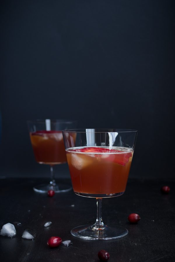 Cranberry Cider Smash - A mix of bourbon and apple cider with a splash of cranberry juice, this festive drink is perfect for the holidays! | @tasteLUVnourish