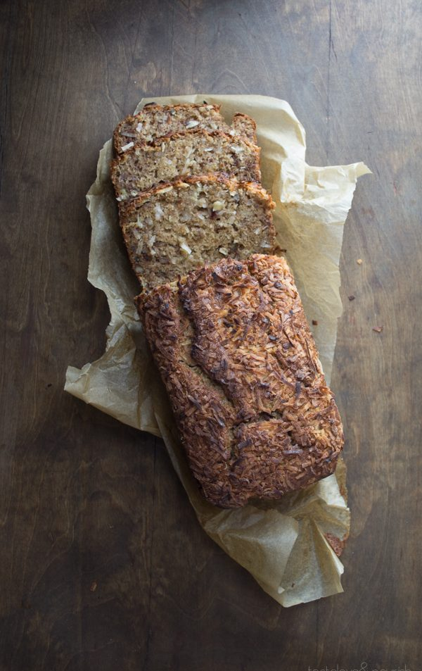 This healthy Coconut Pecan Banana Bread may be the best I've ever made! | @tasteLUVnourish