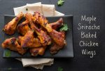 Maple Sriracha Baked Chicken Wings - these sweet and spicy wings are baked...a much less guilty version of wings! | @tasteLUVnourish