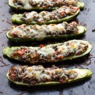 Vegetable and Quinoa Stuffed Zucchini