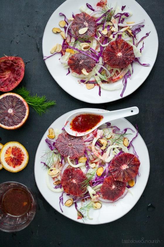 Blood Orange and Fennel Salad | @tasteLUVnourish | #bloodorange #fennel #salad #vegan