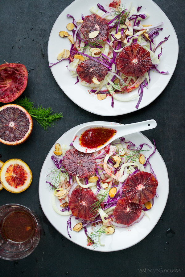 Blood Orange and Fennel Salad | @tasteLUVnourish | #bloodorange #fennel #salad #vegan