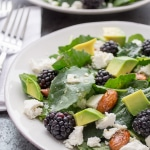 Baby Kale and Blackberry Salad