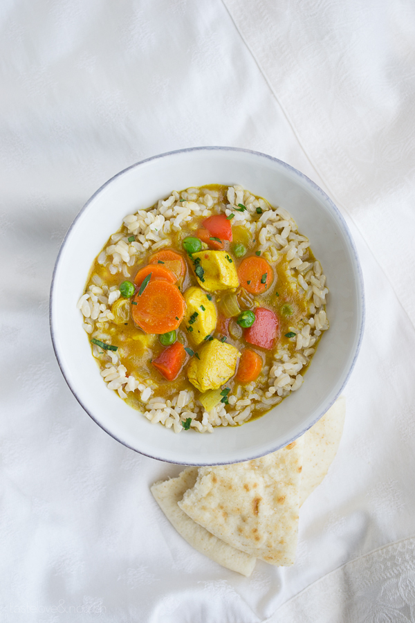 Chicken Vegetable Curry Bowl from Taste Love & Nourish