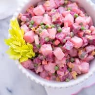 Beet and Potato Salad (Salade Russe) - This light, fresh version of a potato salad is colorful and so delicious! | @tasteLUVnourish on www.tasteloveandnourish.com