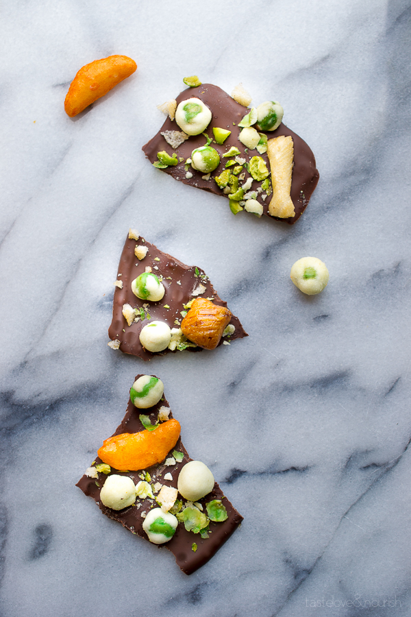 Wasabi Pea Chocolate Bark from Taste Love & Nourish