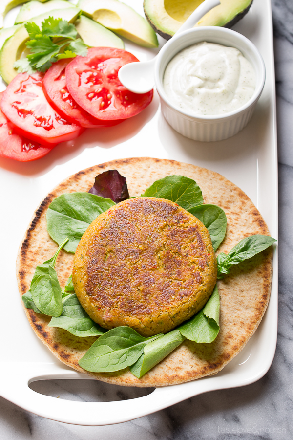 Quinoa and Chickpea Burger from Taste Love & Nourish