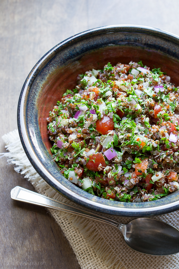 Red Quinoa Tabbouleh from Taste Love & Nourish