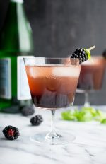 Blackberry Basil Shrub | @tasteLUVnourish