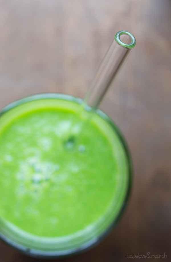 Cucumber Pear and Kale Restore Juice by Taste Love & Nourish