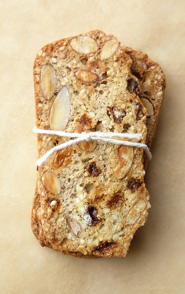 Sesame Almond Biscotti Thins from Taste Love and Nourish