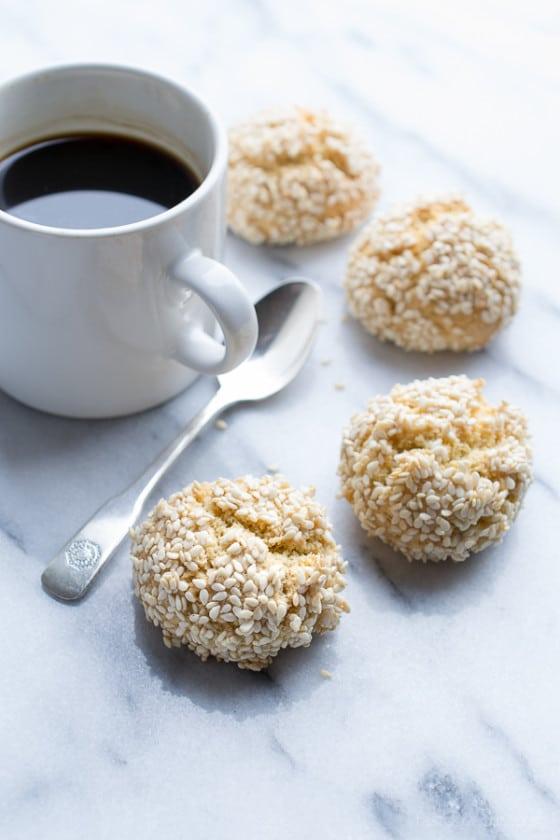 Sesame Tahini Cookies | @tasteLUVnourish | #nobutter #sesame #tahini #cookies