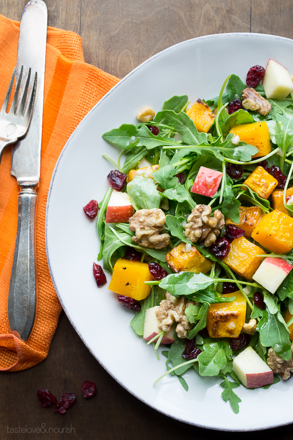 Maple Vinaigrette | @tasteLUVnourish | #salad #butternut #apple #maple ...